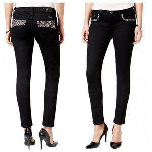 Miss Me Black signature aztec skinny jeans 25